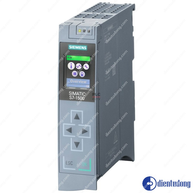 SIMATIC S7-1500, CPU 1511-1 PN, CENTRAL PROCESSING UNIT WITH WORKING MEMORY 150 KB FOR PROGRAM AND 1 MB FOR DATA, 1. INTERFACE: PROFINET IRT WITH 2 PORT SWITCH, 60 NS BIT-PERFORMANCE,