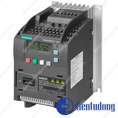 SINAMICS V20 3AC380- 480V -15/+10% 47-63HZ RATED POWER 1.1KW WITH 150% OVERLOAD FOR 60SEC UNFILTERED I/O-INTERFACE: 4DI, 2DO,2AI,1AO FIELDBUS: USS/ MODBUS RTU WITH INBUILT BOP PROTECTION: