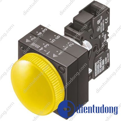 22MM PLASTIC ROUND COMPLETE UNIT COMBINATION: INDICATOR LIGHT WITH SMOOTH LENSE ILLUMINATED