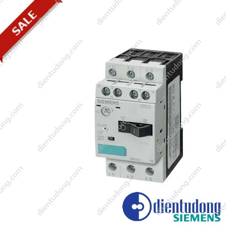 CIRCUIT-BREAKER, SIZE S00 FOR MOTOR PROTECTION, CLASS 10, A REL.0.14...0.2A, N REL.2.6A, SCREW CONNECTION, STANDARD BREAKING CAPACITY W. TRANSV. AUX. SWITCH 1NO/1NC