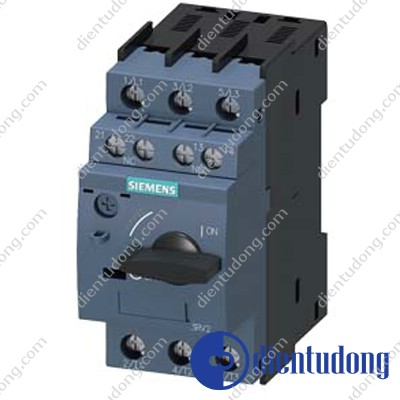 CIRCUIT-BREAKER SZ S00, FOR MOTOR PROTECTION, CLASS 10, A-RELEASE 4.5...6.3A, N-RELEASE  82A SCREW CONNECTION, STANDARD SW. CAPACITY W. TRANSVERSE AUX. SWITCH 1NO+1NC