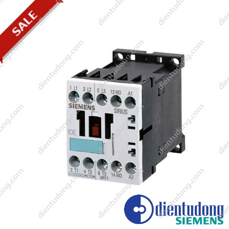 CONTACTOR, AC-3 3 KW/400 V, 1 NC, AC 230 V, 50/60 HZ, 3-POLE, SIZE S00, SCREW CONNECTION