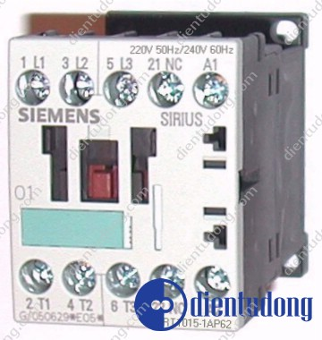 CONTACTOR, AC-3 3 KW/400 V, 1 NC, AC 220V 50HZ/ 240V 60HZ 3-POLE, SIZE S00, SCREW CONNECTION
