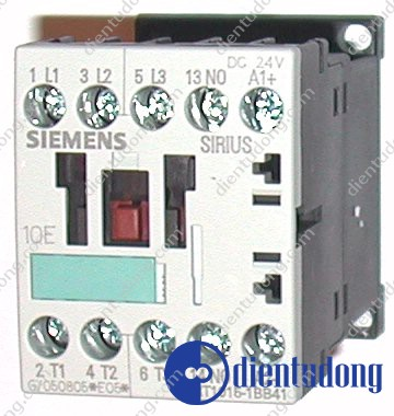 CONTACTOR, AC-3 3 KW/400 V, 1 NO, DC 24 V, 3-POLE, SIZE S00, SCREW CONNECTION