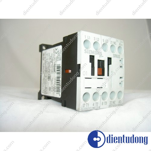 CONTACTOR, AC-3 3 KW/400 V, 1 NC, DC 24 V, 3-POLE, SIZE S00, SCREW CONNECTION