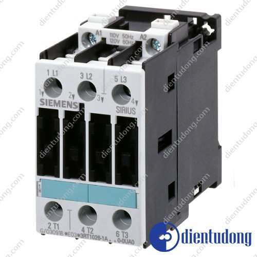 CONTACTOR, AC-3 5.5 KW/400 V, AC 110 V, 50 HZ, 3-POLE, SIZE S0, SCREW CONNECTION