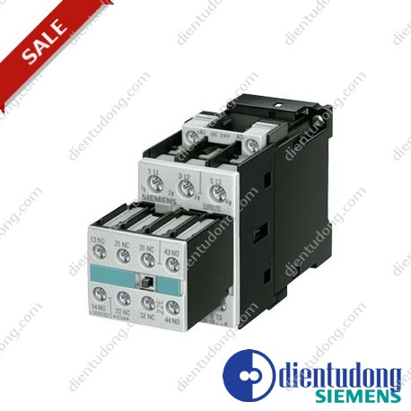 CONTACTOR, AC-3 5.5 KW/400 V, AC 230 V, 50 HZ, 3-POLE, 2 NO + 2 NC, SIZE S0, SCREW CONNECTION