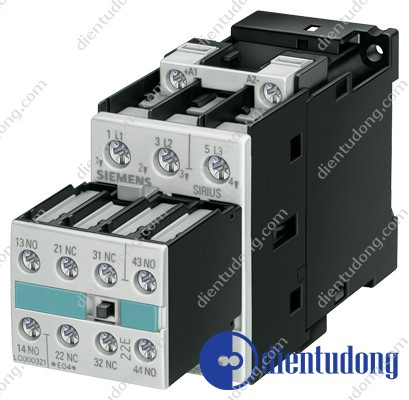 CONTACTOR, AC-3 11 KW / 400 V, AC 220 V 50 HZ / 240 V 60 HZ, 3-POLE, 2 NO + 2 NC, SIZE S0, SCREW CONNECTION
