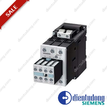 CONTACTOR, AC-3 15 KW/400 V, DC 24 V, 3-POLE, 2 NO + 2 NC, SIZE S2, SCREW CONNECTION