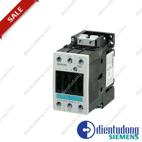 CONTACTOR, AC-3 18.5 KW/400 V, AC 230 V, 50 HZ, 3-POLE, SIZE S2, SCREW CONNECTION