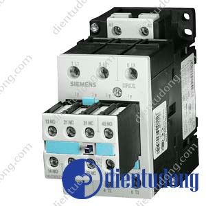 CONTACTOR, AC-3 22 KW/400 V, AC 230 V, 50 HZ, 2 NO + 2 NC 3-POLE, SIZE S2, SCREW CONNECTION
