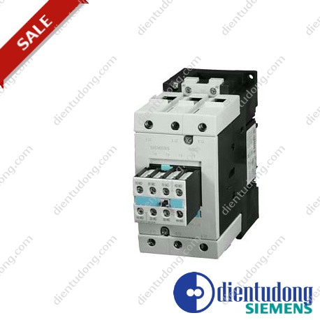 CONTACTOR, AC-3 30 KW/400 V, AC 220V 50HZ/240V 60HZ 2 NO + 2 NC 3-POLE, SIZE S3, SCREW CONNECTION