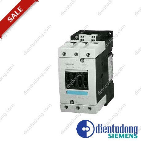 CONTACTOR, AC-3 30 KW/400 V, AC 110 V 50 HZ/ 120 V 60 HZ, 3-POLE, SIZE S3, CAGE CLAMP