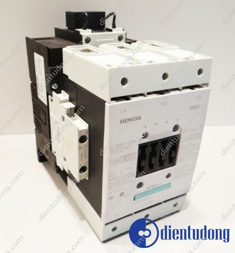 CONTACTOR, AC-3 37 KW/400 V, AC 220V 50HZ/240V 60HZ 2 NO + 2 NC 3-POLE, SIZE S3, SCREW CONNECTION
